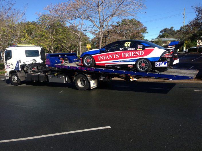 Towing Racing Car