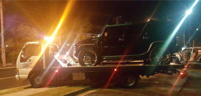 Towing Humvee