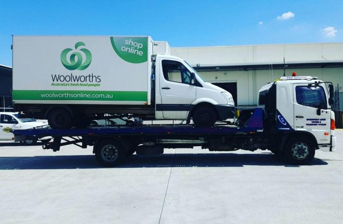 Towing Woolworths Truck