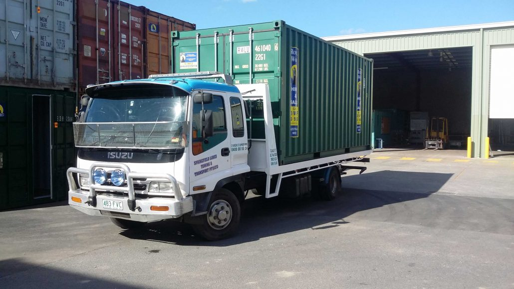 Towing and Transporting Containers
