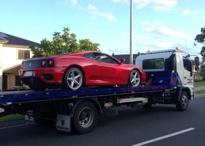 towing super performance car