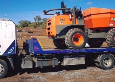towing worksite equipment