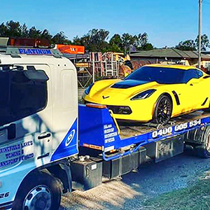 tow truck towing performance car